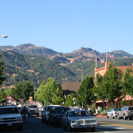 View from downtown Calistoga, Napa Valley California.