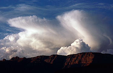 Thumbnail image of Clouds over the Desert View watchtower.