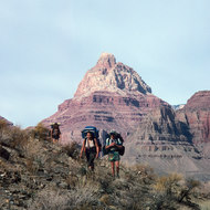 Hikers on the Tonto Plateau.