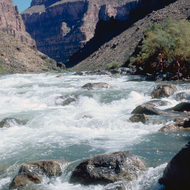 Private boaters scouting Granite Rapid.