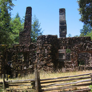 The ruins of Jack London's Wolf House in Jack London State Park, California.