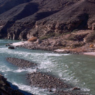 Riffles in the Colorado River.