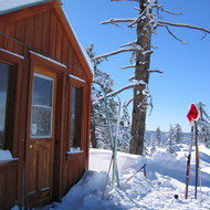 Ski hut on the Bear Valley Cross Country trails.