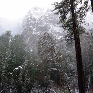 The Merced River in winter.
