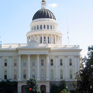 A view of the California State Capitol from the North.