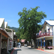 A view of downtown Downieville.