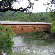 A view of the covered bridge at Bridgeport, South Yuba River State Park.