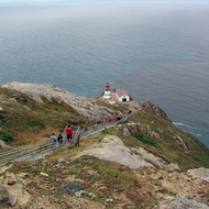 The Point Reyes lighthouse.