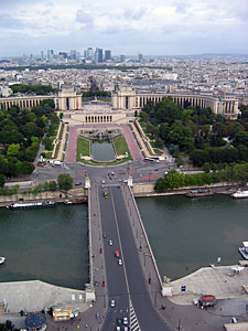 Thumbnail image ofA view from the lower part of the Eiffel Tower...