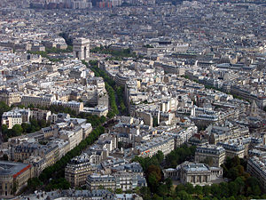 Thumbnail image ofA view from the top of the Eiffel Tower toward...