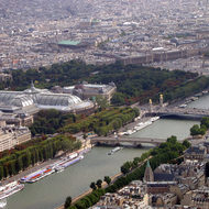 A view from the top of the Eiffel Tower to the Place de Concorde.