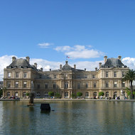 The Luxembourg Palace in Luxembourg Gardens.