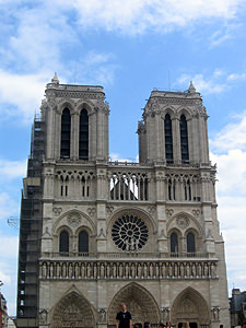 Thumbnail image ofThe facade of the Notre Dame Cathedral.