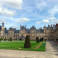 The Fontainebleau Chateau outside of Paris.