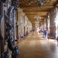 A view inside the Fontainebleau Chateau.