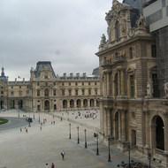 A view of the Louvre from inside.