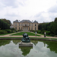A view of the Rodin Museum from the gardens.