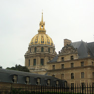 An exterior view of the Hotel des Invalides.