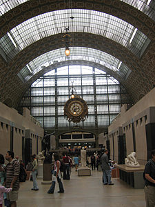 Thumbnail image of An interior view of the Orsay Museum, a former...