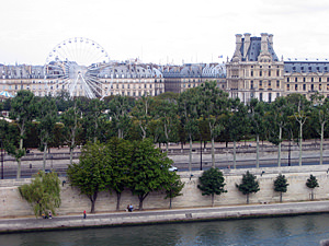 Thumbnail image ofA view from the upper floor of the Orsay Museum,...
