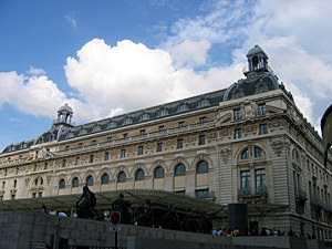 Thumbnail image ofThe front of the Orsay Museum, a former train...