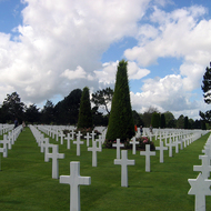 The American cemetery at the beaches of Normandy.