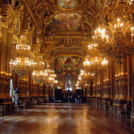 An interior view of the Paris Opera Garnier.