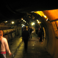 Inside the Paris sewer system, where you can take a tour.