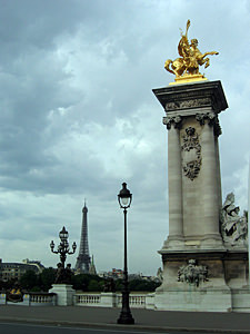 Thumbnail image ofThe bridge at the Place de Concorde, with the...