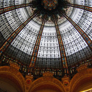 A view of the dome inside the Galleries Lafayette department store.
