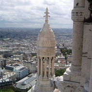 A view of Paris from the Basilica of Sacr� C ur.