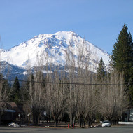 Mt. Shasta from downtown McCloud (7 March 2005).
