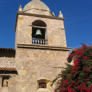 The bell tower of the Carmel Mission.