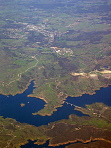 Thumbnail image ofAn aerial view of New Melones reservoir and Angels...