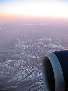 Thumbnail image ofAn aerial view of snowy mountains.