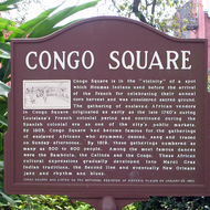 Historical sign at Congo Square, on the edge of the French Quarter