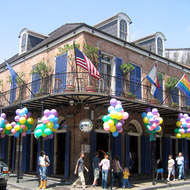A French Quarter street scene.