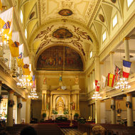 Inside St. Louis Cathedral.