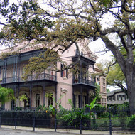 A mansion in the Garden District.