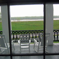 A view of the Mississippi River from the mansion at Nottoway Plantation (near New Orleans).
