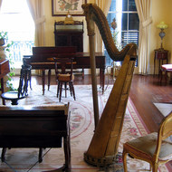 The music room of the mansion at Nottoway Plantation (near New Orleans).