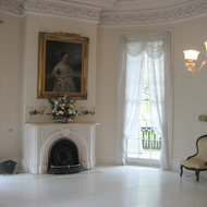 Part of the white room (ballroom) in the mansion at Nottoway Plantation (near New Orleans).