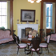 A room in the mansion at Nottoway Plantation (near New Orleans).