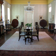 The dining room in the mansion at Madewood Plantation (near New Orleans).