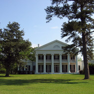 A front view of Madewood Plantation (near New Orleans).