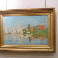 Claude Monet's Regata at Argenteuil, c.1872, in the Orsay Museum, Paris.