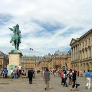 The front courtyard of Versailles.