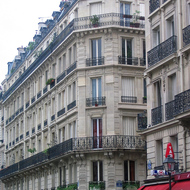 A typical Paris street scene.