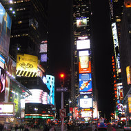 A view of Times Square, Manhattan.