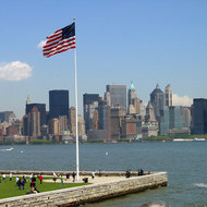 Manhattan from Ellis Island.
